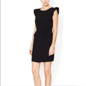 SANDRO NWT Resonance Peplum Noir Dress S